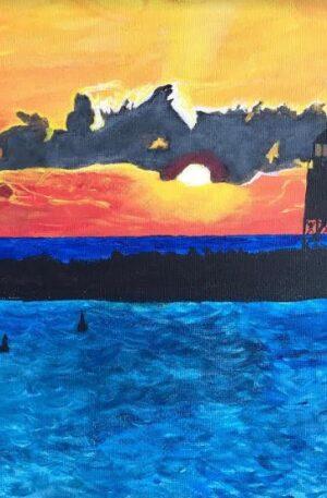 Sunset in Racine